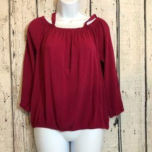 Sanctuary clothing 3/4 sleeve blouse size medium